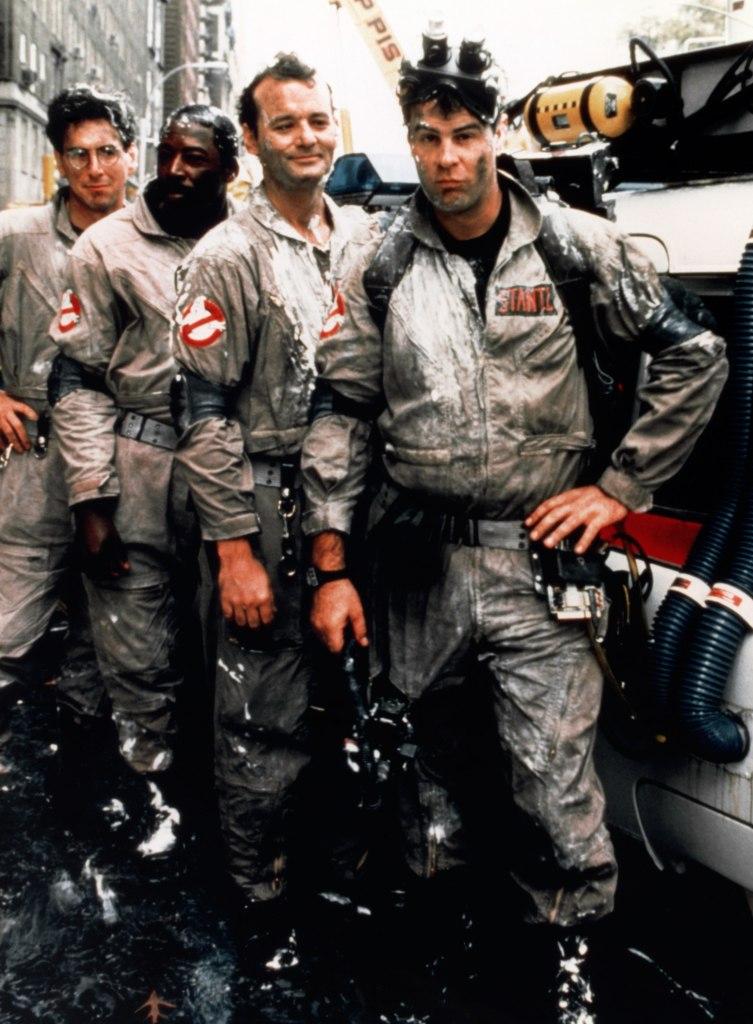 De originele cast:  Harold Ramis, Ernie Hudson, Bill Murray en Dan Aykroyd. (Foto CinemaPhoto/Corbis)