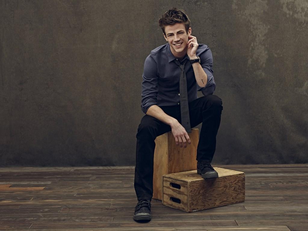Grant Gustin kan na Glee een compleet nieuwe kant van zichzelf laten zien. (GF)