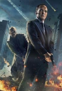 Clark Gregg als Coulson op de poster van The Avengers. (Foto Marvel)