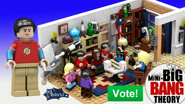 Zo ziet de Lego-versie van The Big Bang Theory eruit volgens Ellen. (Foto Lego Ideas)