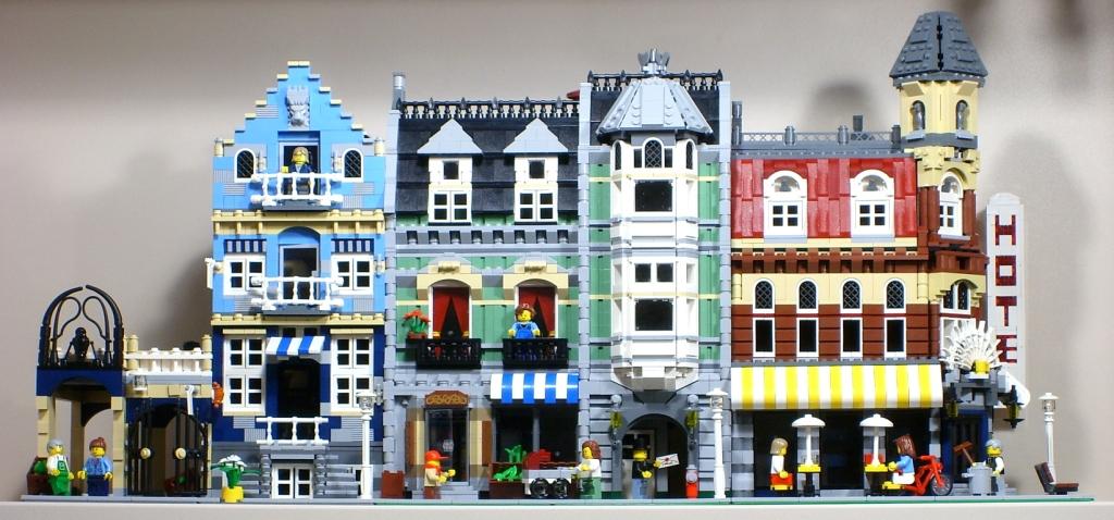 Market Street, Green Grocer en Café Corner: de eerste Modulars die vandaag onvindbaar zijn. (GF)
