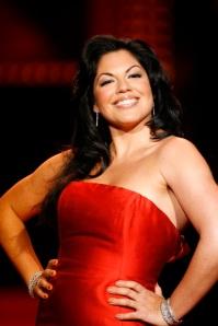Sara Ramirez tijdens een fundraiser in 2008. (GF)